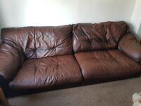 3 & 4 seater leather sofa