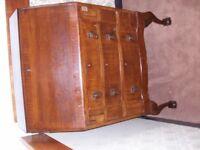 Writing bureau / desk , 3 drawer drop front