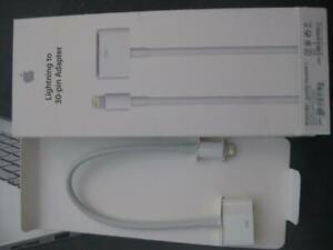 Apple Lightning to 30 Pin Cable Adapter. Connect Old Iphone / Ipad Dock to iPhone 6 / 7 / 8 / X / iPhone 8 Plus. Charger