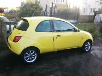 Ford Ka zetec climate yellow 1.3 57 plate also 05 Streetka spares or repair MOT failure