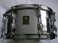 """Premier Dominion Ace brass snare drum 14 x 6 1/2"""" - Modded"""