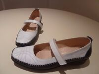 Ladies Navy and white shoes size 39