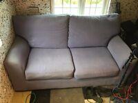 light purple sofa bed