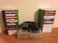 Original Crystal Xbox + 50 Games