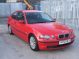 BMW 318 Ti COMPACT 2.0Ltr Mot end June 2017 with service history only 3 owners