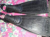 Wenoka Sea Style Reflex Black Fins - Size L 43/44
