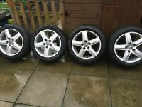 "4 x 17"" Audi sport alloys and good tyres"