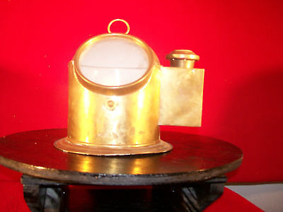 "Vintage Nautical Brass Compass Binnacle.""Plath Germany"""