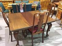 Antique Mahogany Wind out Table & 4 chairs