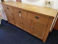 Brand new honey oak sideboard