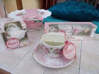 Roses Pantry Cake stand, measures, timer and cup set