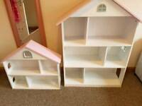 Girls bookcase and wall shelf unit