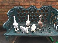 Antique french verdigris copper ducks garden ornaments