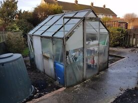 GREENHOUSE - FREE to take away - must dismantle - 6 x 4 feet approx
