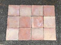 Handmade Fired Earth floor tiles.