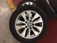 BMW - 16 inch genuine alloys and tires