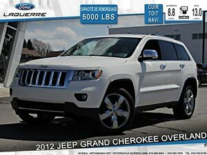 2012 Jeep Grand Cherokee **OVERLAND*CUIR*TOIT*NAVI *CAMERA*A/C**