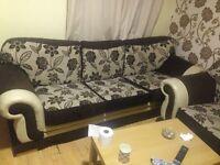 Brown Material sofas
