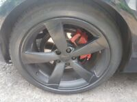 Genuine audi rotors 19 inch tyres 5x112