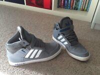 Adidas hi-top trainers