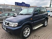 2004 54 NISSAN TERRANO 2 2.7 TURBO DIESEL 5 SEATER 4x4 OFF ROAD WITH ALL MOD CONS INC AIR CON CHEAP!
