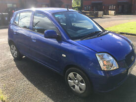 Kia Picanto LX 2005 Blue 5-door Hatchback 1 litre manual with very low milage All Electric windows