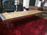 Coffee Table - Rustic made from Solid Beech Wood - Excellent Quality - Heavy