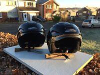 Nitro polycarbonate open face crash helmets