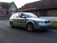 2004 AUDI A4 1.9TDi 130 SE DIESEL MANUAL ESTATE. FSH. VERY LOW MILEAGE. LONG MOT. LOTS OF EXTRAS