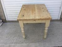 Solid Pine Small Dining Table with drawer