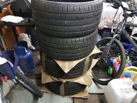 Tyres 255/35/20 set of 4 tyres vw transporter mercedes bmw