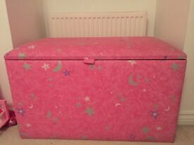 Pink stars and moons storage/toy box