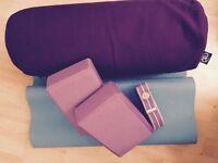 Yoga kit - mat, bolster, blocks and strap - Good quality
