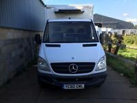 mercedes sprinter 2010 fridge box van.manual.EURO 5. 1 owner.full service print