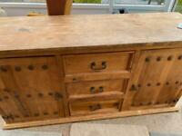 Old style pine sideboard