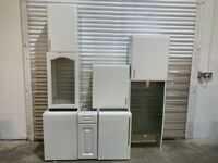Job Lot Kitchen Units - Sheraton Gloss White Carcases with Doors