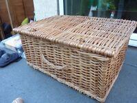 Large wicker basket.