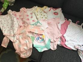 Bundle of baby girl clothes - first size!