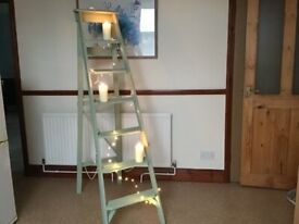 Vintage up-cycled wooden step ladders