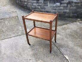 old Wooden hostess trolley 2 tear Victorian?