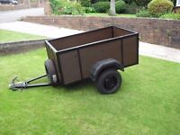 camping trailer 6ft long 3ft wide 2ftdeep excellent condition, waterproof cover three new tyres