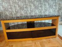 Oval TV stand in oak effect John Lewis