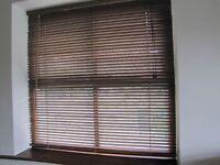 Wood Venetian Blind - Medium Oak Coloured fit window up to 107cm W X 155cm high or smaller