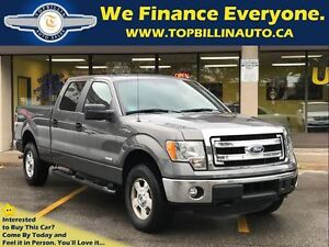 2014 Ford F-150 XLT 4X4 Crew Cab, Bed Cover, Only 19K kms