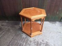 hexagon Shaped Small Side Table Delivery Available