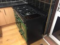 RANGEMASTER 110CLASSIC COOKER WITH HOOD AND NEW BLACK EXTERNAL DOORS