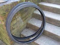 set of 26x1/3/8 all black tyres , ideal vintage town bike etc
