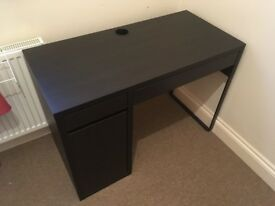 IKEA Black/Brown MICKE Desk & Flintan Chair