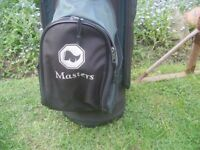 Golf Bag with rain cover,Golf trolly with quick release wheels and a brand new travel bag