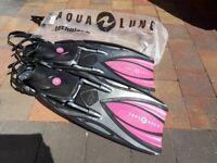 Aqua Lung Slingshots Scuba diving fins pink